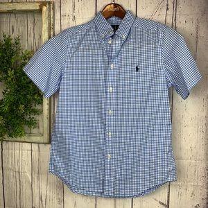 Ralph Lauren boys blue dress shirt SZ. L 14/16